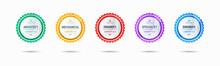 Certified Badge Logo Design For Company Training Badge Certificates To Determine Based On Criteria. Set Bundle Certify Colorful Vector Illustration.