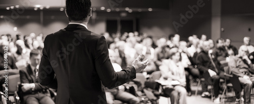 Speaker at Business Conference and Presentation Fototapet