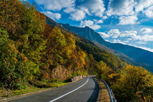 Road In Danube Gorge In Djerdap On The Serbian-Romanian Border