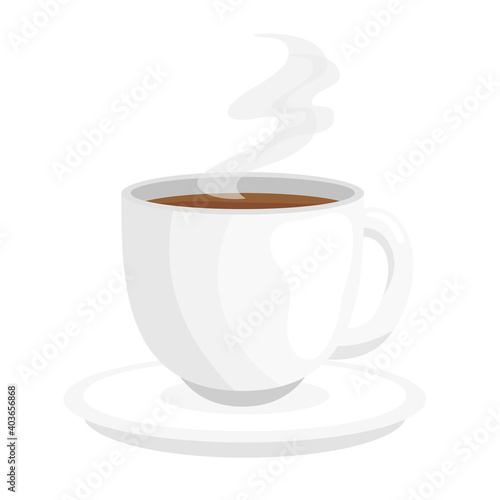 coffee cup design of drink caffeine breakfast and beverage theme Vector illustra Tapéta, Fotótapéta