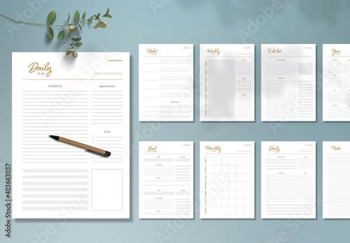 Fototapeta Personal Planner Layout  obraz