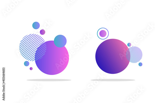 Fotografia, Obraz Set of abstract badges, icons or shapes in trendy purple colors
