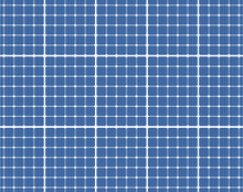 Solar Panels Photovoltaic Energy Pattern - Vector Illustration
