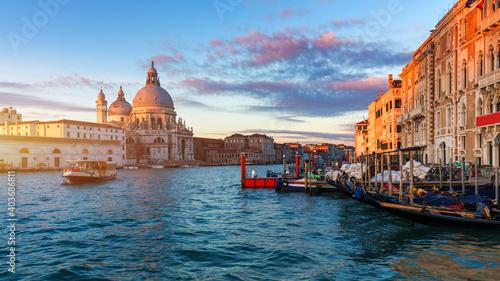 Fotografia Santa Maria della Salute at Sunrise in Venice, Italy