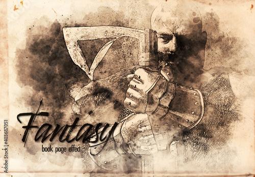 Fototapeta Fantasy Sketch Book Effect obraz