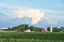 Approaching Storm Over The Farm