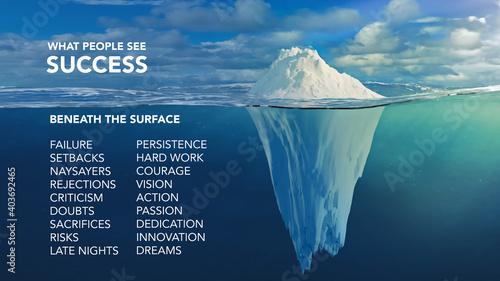 Fotografie, Tablou The Iceberg of Success