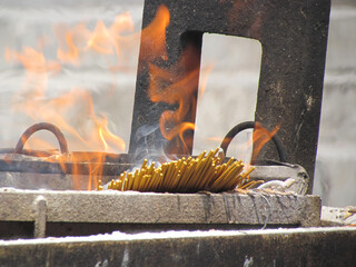 holy fire from fragrant incense