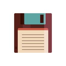 Retro Floppy Disk Storage Icon Vector Illustration Design