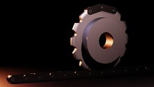 SPROCKETS AND GEARS - FOR ROLLER CHAIN AND CONVEYOR CHAIN - 3D RENDER