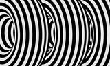 Fototapeta Do przedpokoju - abstract lines design black white tunnel monochrome hypnotic stripes wavy optical background part 7