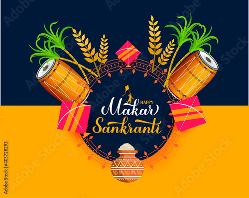 Obraz happy makar sankranti - fototapety do salonu