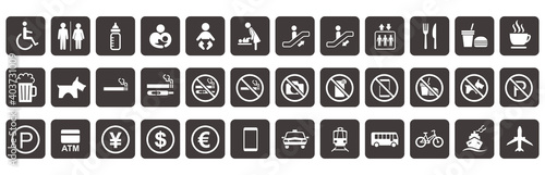 illustration of sign  icon set vector Fototapeta
