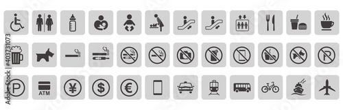 Fényképezés illustration of sign  icon set vector