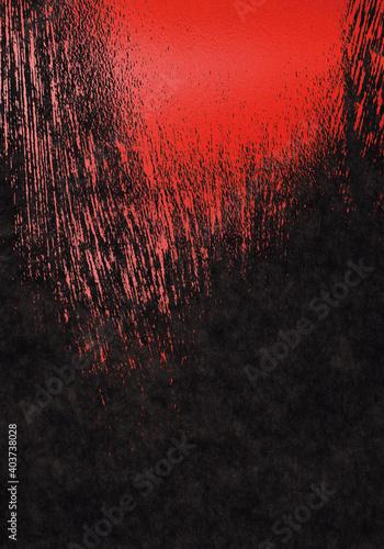 Fotografia, Obraz 背景_バック_テクスチャ_和紙_004_黒赤