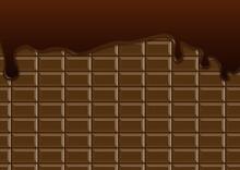 チョコレート 溶ける 垂れる バレンタイン フレーム 背景