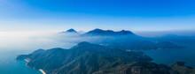 Misty Mountain Landscape In Sai Kung Country Park, Near High Island Reservoir, Hong Kong