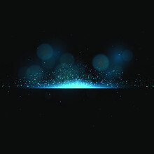Light Effect Of Glow, Purple Explosion Or Flash With Shiny Particles On Black Background. Eps10 Vector Illustration.