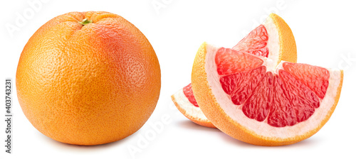 Fotografie, Obraz Grapefruit clipping path