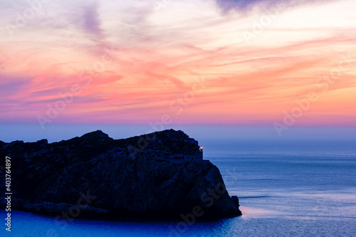Faro de Tramuntana. Isla Dragonera.Andratx. Ponent.Mallorca.Illes Balears.España.