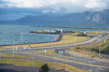 View Of Reykjavik Bay In Iceland