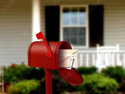 Valokuva red mail box