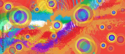 Tablou Canvas Colorful geometric background