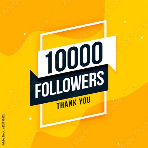 Fototapeta 10k social media followers thank you post design