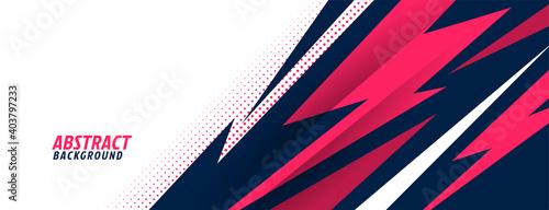 stylish sports background with geometric sharp shapes