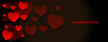 Hapy Valentines Day Floating Hearts Banner Design