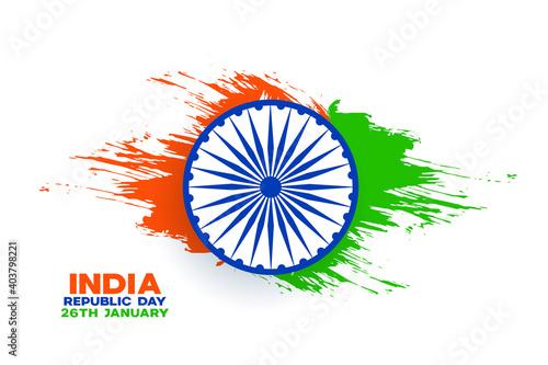 Obraz na płótnie india republic day background with watercolor splash