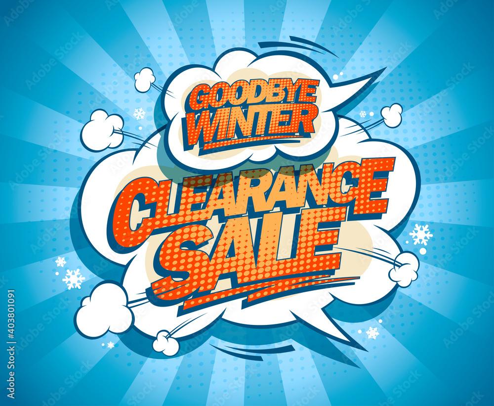 Fototapeta Goodbye winter clearance sale poster
