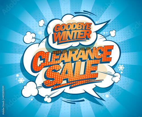 Obraz Goodbye winter clearance sale poster - fototapety do salonu