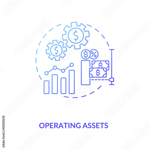 Photo Operating assets concept icon