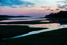 Sunset At Blackfish Creek In Wellfleet, MA On Cape Cod