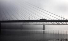 Veterans Memorial Bridge Over The Ohio River