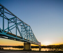 Ravenswood Bridge West Virginia On Left And Ohio On Right