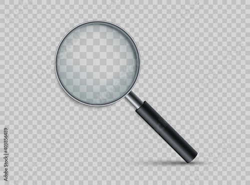 Tableau sur Toile Realistic magnifying glass