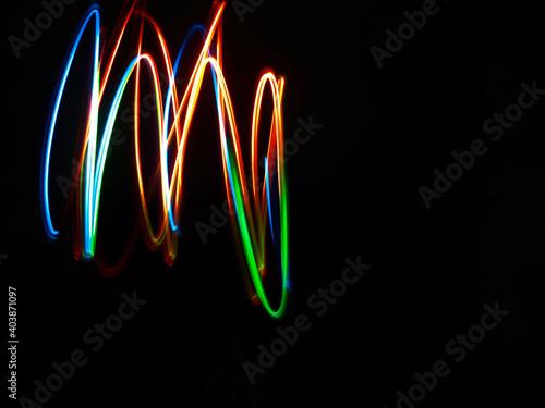 Kolorowe rozmazane światła