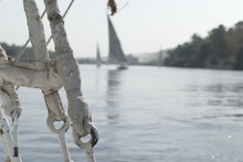 Felucca Sailing On The Nile River Days Before Egypt Closed Its Borders Due To The Covid-19