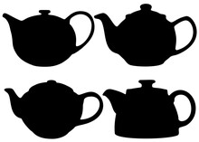 Teapots For Tea Drinking In A Set.