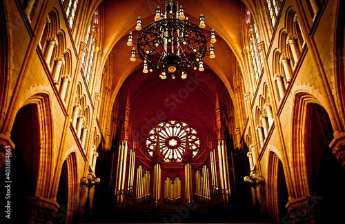 Iglesia gótica Fotobehang