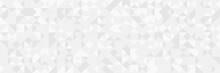 White Square Pattern. White Silver Geometric Universal Background For Business Presentation . Abstract Elegant Seamless Pattern. Minimalist Empty Triangular BG. Halftone Monochrome Cover. 2021