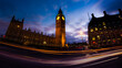 canvas print picture big ben at night in london UK