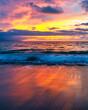 Sunset Ocean Vertical