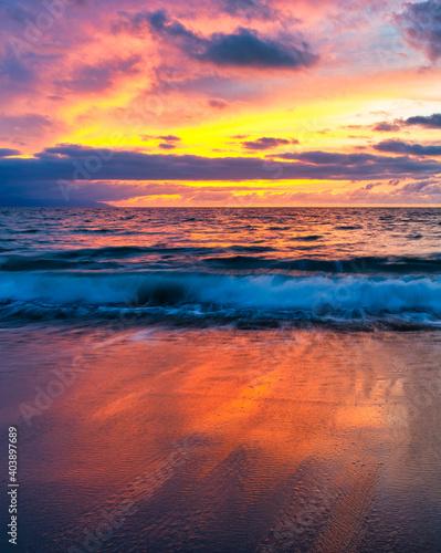 Fototapety, obrazy: Sunset Ocean Vertical