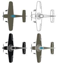 Focke 190 In Top View