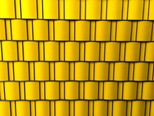 Full Frame Shot Of Yellow Patterned Wall
