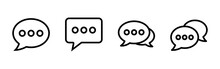 Chat Icon Vector. Speech Bubble Icon. Comment Icon Vector. Message. Contact Us