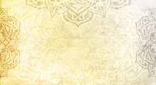 Textured Yellow And Grey Mandala Frame - Colors Of The Year 2021